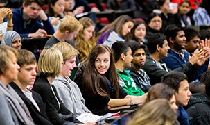 image-Students in lecture theatre