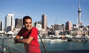image- Student by Auckland waterfront
