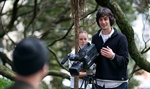 Image - student filming on location
