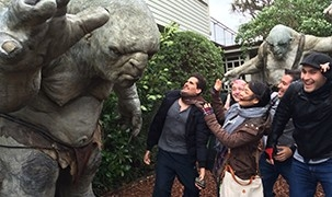 Image - students on field trip at Weta Workshop